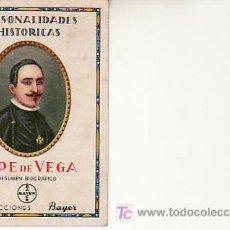Coleccionismo Cromos antiguos: PERSONALIDADES HISTORICAS.LOPE DE VEGA.COLECCIONES BAYER. VEA MAS EN RASTRILLOPORTOBELLO. Lote 24321037