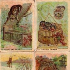 Coleccionismo Cromos antiguos: LOTE DE 13 CROMOS DE DIFERENTES TIPOS DE TRAMPAS. Lote 19999585