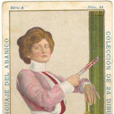 Coleccionismo Cromos antiguos: CROMO ANTIGUO DE EL LENGUAJE DEL ABANICO . SÉRIE A . / NÚM. 24. Lote 20443644