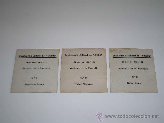 Coleccionismo Cromos antiguos: Cromos nº 2,8 y 11, James Cagney, Humphrey Bogart, Heinz Rühmann, E. Cultural Chicos 1942 - Foto 2 - 253228180