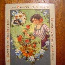 Coleccionismo Cromos antiguos: CROMO TAMAÑO POSTAL - ABONOS PARA ROSALES - NÚM 7 COLECCION FOSFO-GLICO-KOLA DOMENECH. Lote 27274881