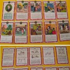 Coleccionismo Cromos antiguos: COLECCIÓN COMPLETA 10 CROMOS DE LA CASA AMATLLER : LA TELEFONIA SIN HILOS. APROX 1920. Lote 21533215