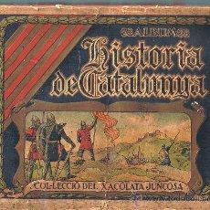 Coleccionismo Cromos antiguos: LOTE DE CROMOS. CROMOS SUELTOS; 2 Y 4 €. HISTORIA DE CATALUNYA. CHOCOLATES JUNCOSA.. Lote 47407460