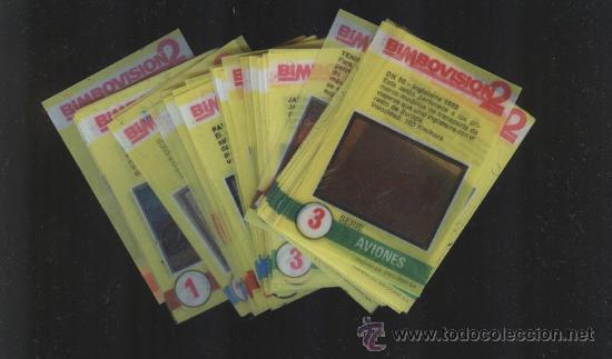 LOTE DIAPOSITIVAS BIMBOVISION 2 DE BIMBO , TAMBIEN SUELTAS (Coleccionismo - Cromos y Álbumes - Cromos Antiguos)