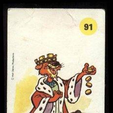 Coleccionismo Cromos antiguos: PLASTICROMO Nº 91 PRINCIPE JUAN DE LA COLECCION LOS AMIGOS DE MICKEY DE BIMBO. Lote 22526855