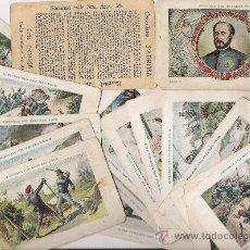 Coleccionismo Cromos antiguos: HECHOS HISTORICOS DEL GENERAL D. JUAN PRIM **35 CROMOS**. Lote 22626728