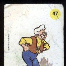 Coleccionismo Cromos antiguos: PLASTICROMO Nº 47 GEPETTO DE LA COLECCIÓN DE PLASTICROMOS DE BIMBO LOS ANIGOS DE MICKEY. Lote 22636995