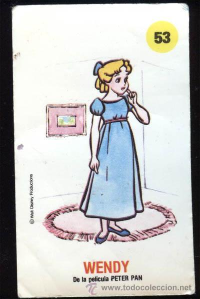 PLASTICROMO Nº 53 WENDY, PLASTICROMOS DE BIMBO, LOS AMIGOS DE MICKEY (Coleccionismo - Cromos y Álbumes - Cromos Antiguos)