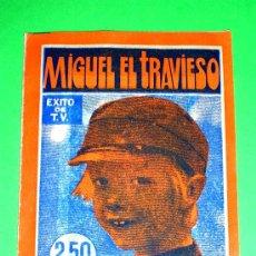 Coleccionismo Cromos antiguos: SOBRE CON SUS CROMOS Y SIN ABRIR, ALBUM MIGUEL EL TRAVIESO, ORIGINAL AÑO 1977 EN EXCELENTE ESTADO. Lote 151460366