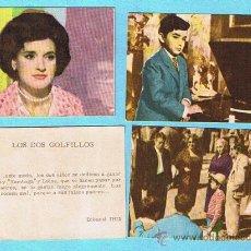 Coleccionismo Cromos antiguos: LOTE DE CROMOS. CROMOS SUELTOS; 1,20 €. LOS DOS GOLFILLOS. EDITORIAL FHER, 1961?. Lote 31685624
