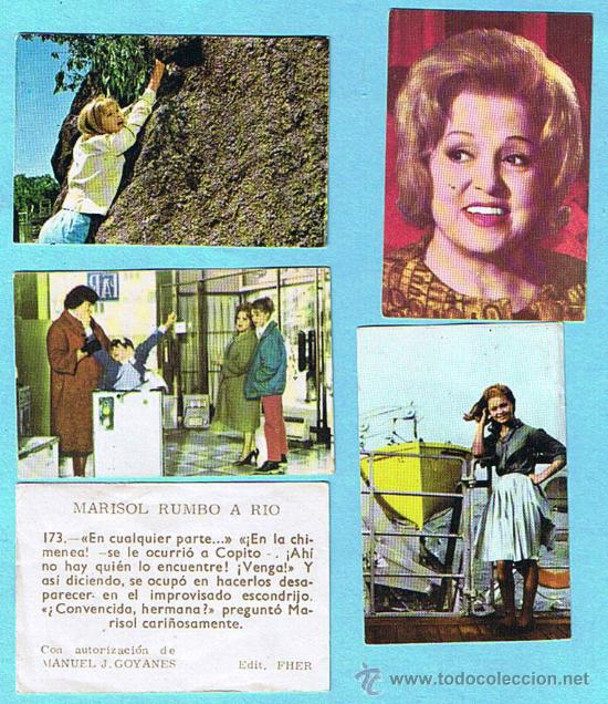 LOTE DE CROMOS. CROMOS SUELTOS; 0,60 €. MARISOL RUMBO A RIO. EDITORIAL FHER, 1963. (Coleccionismo - Cromos y Álbumes - Cromos Antiguos)