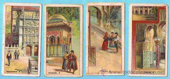 LOTE DE CROMOS CROMOS SUELTOS; 3 €. CIUDADES DE ESPAÑA. SEVILLA, TOLEDO, GRANADA. CHOCOLATE JUNCOSA. (Coleccionismo - Cromos y Álbumes - Cromos Antiguos)