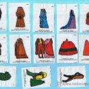 Coleccionismo Cromos antiguos: LOTE DE CROMOS. CROMOS SUELTOS: 2,50 € HISTORIA DEL VESTIDO. CHICLES NINA.. Lote 28884385