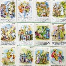 Coleccionismo Cromos antiguos: CROMOS - COLECCIÓN COMPLETA TU RELIGION EN CROMOS - COLE ORACIÓN 12 UNIDADES. Lote 24871425