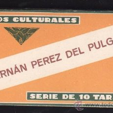 Coleccionismo Cromos antiguos: CROMOS CULTURALES. SERIE DE 10 TARJETAS - HERNAN PEREZ DE PULGAR Nº28. Lote 26123470