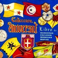 Coleccionismo Cromos antiguos: LOTE MAS DE 100 CROMOS DEL ALBUM COLECCIÓN UNIVERSAL LIBRO DE BANDERAS, ESCUDOS, MONEDAS, MAPAS. Lote 26391737