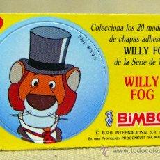Coleccionismo Cromos antiguos: CROMO PREMIUM BIMBO, 1980S, CON CHAPA ADHESIVA, WILLY FOG, Nº 10, WILLY FOG. Lote 27330164