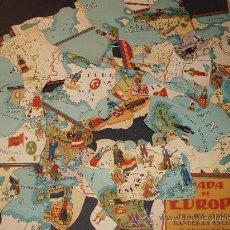 Coleccionismo Cromos antiguos: MAPA DE EUROPA-JAIME BOIX-COMPLETA 52 CROMOS. Lote 27753467