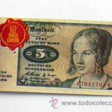 Coleccionismo Cromos antiguos: TELE BANCO CANCIÓN - CROMO 5 MARCOS DE ALEMANIA. Lote 27820445