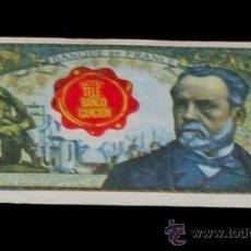Coleccionismo Cromos antiguos: CROMO BILLETE TELE BANCO CANCION - 5 FRANCOS FRANCIA. Lote 28362954