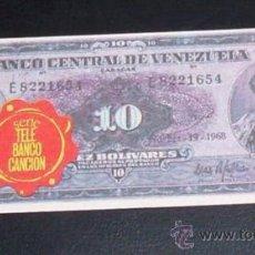 Coleccionismo Cromos antiguos: CROMO BILLETE TELE BANCO CANCION - 10 BOLIVARES - VENEZUELA. Lote 28363058