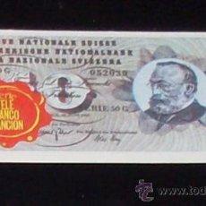 Coleccionismo Cromos antiguos: CROMO BILLETE TELE BANCO CANCION - 10 FRANCOS - SUIZA. Lote 27910625