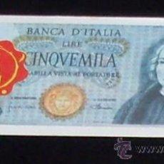 Coleccionismo Cromos antiguos: CROMO BILLETE TELE BANCO CANCION - 5000 LIRAS - ITALIA. Lote 28362922