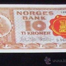 Coleccionismo Cromos antiguos: CROMO BILLETE TELE BANCO CANCION - 10 CORONAS - NORUEGA. Lote 27910690