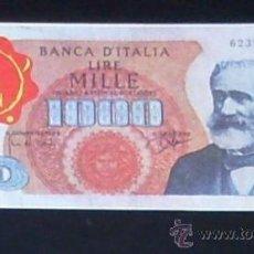 Coleccionismo Cromos antiguos: CROMO BILLETE TELE BANCO CANCION - 1000 LIRAS - ITALIA. Lote 27910849