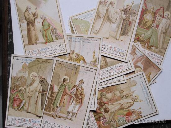 Coleccionismo Cromos antiguos: RARA Y BELLA COLECCION DE CROMOS. VIDA DE SAN BERNARDO. CHOCOLATES DE LA TRAPA - Foto 2 - 28278070