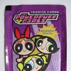 Coleccionismo Cromos antiguos: SOBRE CERRADO CROMOS TRADING CARDS ALBUM THE POWERPUFF GIRLS CHICAS SUPERPODEROSAS CARTOON NETWORK. Lote 28661114