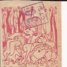 Coleccionismo Cromos antiguos: SOBRE CON 2 CROMOS BLANCANIEVES Y LOS 7 ENANITOS, ED. RUIZ ROMERO. Lote 117142714