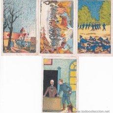 Coleccionismo Cromos antiguos: 4 CROMOS SIN NOVEDAD EN EL FRENTE CHOCOLATES MONRABÁ REUS NºS 8,11,36 Y 39. Lote 29180476