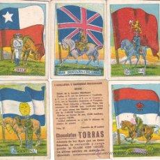 Coleccionismo Cromos antiguos: CROMOS DE CHOCOLATE TORRAS COLE CABALLERIA Y BANDERAS NACIONALES 2 EUROS UNIDAD. Lote 30882751