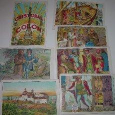 Coleccionismo Cromos antiguos: LOTE DE 7 CROMOS....CRISTOBAL COLON......CHOCOLATE JUNCOSA.. Lote 29466506
