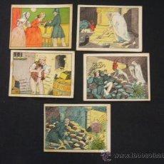 Coleccionismo Cromos antiguos: LOTE 4 CROMOS - EL TESORO OCULTO - CHOCOLATES LLOVERAS - POSIBILIDAD DE VENDER SUELTOS. Lote 29598922