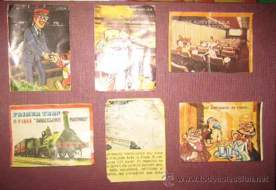 6 CROMOS DE BIMBO . LA AVENTURA DEL TREN (Coleccionismo - Cromos y Álbumes - Cromos Antiguos)