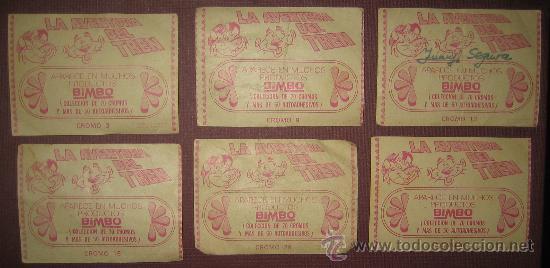 Coleccionismo Cromos antiguos: 6 cromos de Bimbo . La Aventura del Tren - Foto 2 - 29746779