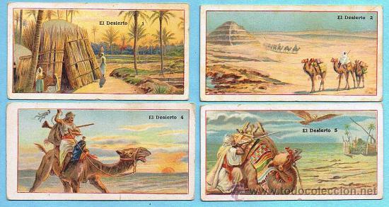 LOTE DE CROMOS. CROMOS SUELTOS; 3,00 €. EL DESIERTO. CHOCOLATE JUNCOSA. (Coleccionismo - Cromos y Álbumes - Cromos Antiguos)