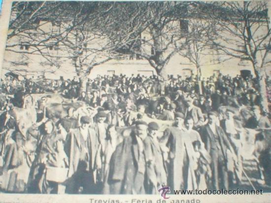 TREVIAS ASTURIAS FERIA DE GANADO CROMO AÑOS 30 (Coleccionismo - Cromos y Álbumes - Cromos Antiguos)