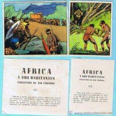 Coleccionismo Cromos antiguos: LOTE DE CROMOS. CROMOS SUELTOS; 0,30 €. ÁFRICA Y SUS HABITANTES. EDITORIAL MAGA. VALENCIA, 1965.. Lote 47285334