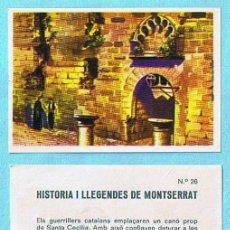 Coleccionismo Cromos antiguos: LOTE DE CROMOS. CROMOS SUELTOS; 0,60 €. HISTORIA I LLEGENDES DE MONTSERRAT. XOCOLATES GREFER, 1959.. Lote 30385577