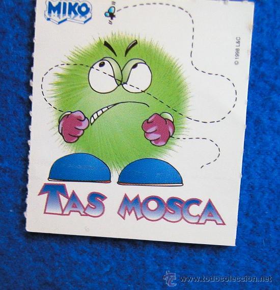 CROMO PEGATINA DE HELADOS MIKO COLECCIÓN -TAS-AÑO 1998 TAS MOSCA (Coleccionismo - Cromos y Álbumes - Cromos Antiguos)