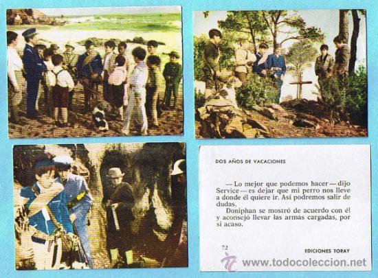 LOTE DE CROMOS. CROMOS SUELTOS; 0,60 €. DOS AÑOS DE VACACIONES. EDICIONES TORAY, 1963. (Coleccionismo - Cromos y Álbumes - Cromos Antiguos)