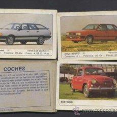 Coleccionismo Cromos antiguos: LOTE DE CROMOS.COLECCION COCHES. EDICIONES UNIDAS. 1986. . Lote 30893868
