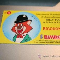 Coleccionismo Cromos antiguos: CROMOS WILLY FOG BIMBO 1983. Lote 31370634