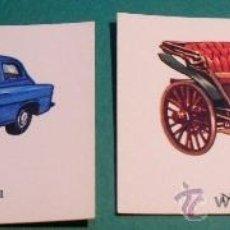 Coleccionismo Cromos antiguos: EL AUTOMOVIL A TRAVES DEL TIEMPO 2 CROMOS DE COCHES ANTIGUOS, CHECOSLOVAQUIA, DE EDIC. RAKER DE 1965. Lote 31403533