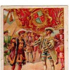 Coleccionismo Cromos antiguos: FIRMA DE HOMBRES CELEBRES Nº 8. FRANCISCO I.. Lote 31416907