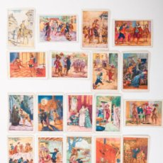 Coleccionismo Cromos antiguos: COLECCIÓN COMPLETA DE 50 CROMOS, LOS TRES MOSQUETEROS, CHOCOLATE AMATLLER. Lote 31525905