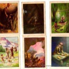Coleccionismo Cromos antiguos: 18 ANTIGUOS CROMOS. HISTORIA DEL PROGRESO HUMANO. PUBLICIDAD CHOCOLATES AMATLLER... Lote 31541452